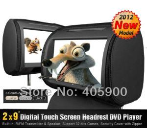 lettore DVD di 2X9 Inch HD Touch Screen Headrest Car con 32bit Games+Zipper Cover