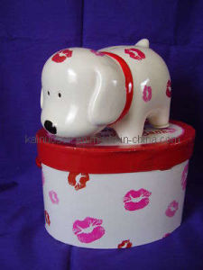 Novo design do banco de moedas de cães em cerâmica