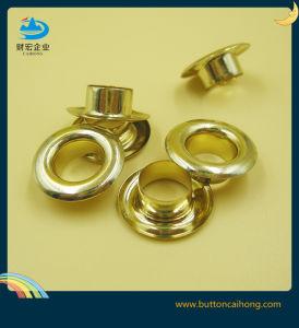 Gold plating ilhós metálicos de latão para Veste roupas, sapatos