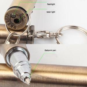 Het multifunctionele Flitslicht van de Ballpoint van de Hamer met Keychain