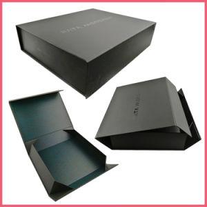 Flat Pack perruque noir mat Vêtements Vêtements Chaussures de sac à main vin parfum chocolat cosmétiques pliage magnétique un emballage cadeau Boîte avec spot UV brillant Logo personnalisé