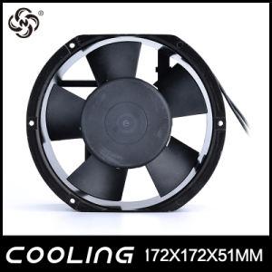 Ce moteur d'entraînement ventilateur CA 17251 2650/2950tr/min de marche arrière du châssis en métal 120 mm de la soufflante 240V AC Ventilateur mince 172x172x51