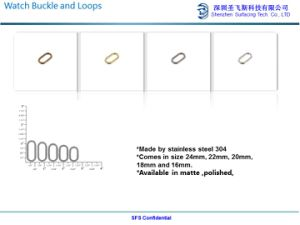 Matte en acier inoxydable (304) pour regarder la boucle de sangle en cuir