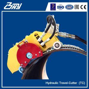 Découpage s'élevant OD-Monté de pipe de coupeur hydraulique portatif de course et machine taillante - TC0672
