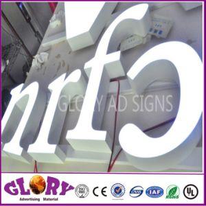 Tienda de Venta caliente firman Carta de resina de cartel para la publicidad