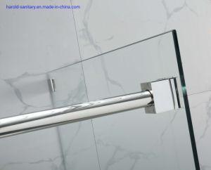 Rolos de duplo controlo deslizante único porta do chuveiro com nova Blacket