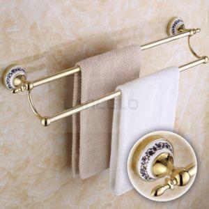 Fabricant de finition en céramique en laiton doré Serviette de bain Salle de bains accessoires de rack 10948e