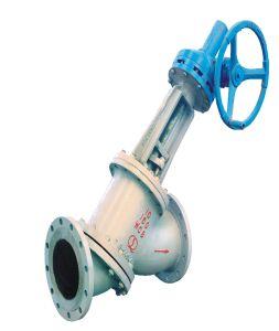 Válvula de Lama Tipo Y para Processo de Alumina