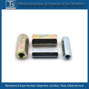 Noce di accoppiamento Hex d'acciaio galvanizzata M8-M16 DIN6334