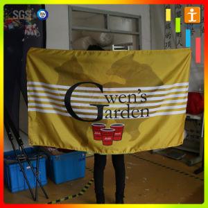 ハングファブリックポリエステル旗の印刷を広告する