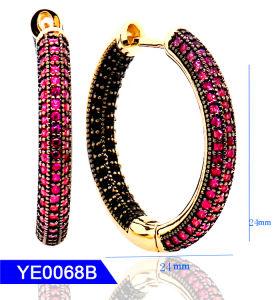 Novo Design de jóias de 925 Sterling Prata ou Bronze Zircónia Cúbicos Grandes Hoop Brincos para Mulheres