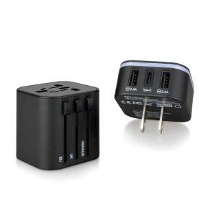 De universele Adapter van de Reis/de ElektroAdapter van de Reis van de Wereld van de Punten van de Gift Universele met Dubbele USB