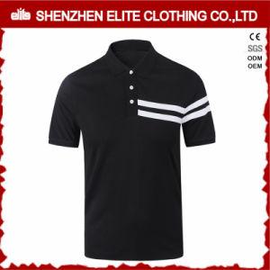 Cotone popolare 100% della camicia di polo del Mens del nero di modo (ELTPSI-23)