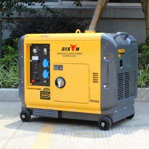 バイソン(中国) BS6500dsea 5kVA 5kw 5000Wの電気開始の長期間の時間信頼できる工場価格12Vのディーゼル発電機