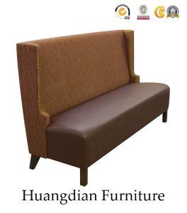 La tapicería de cuero casetas de madera para Bar restaurante o club (HD124)