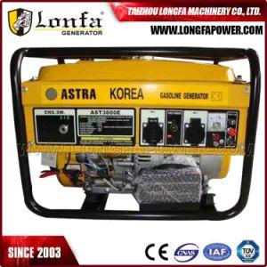 generatore di rame della benzina di disegno 100% di 3.5kVA Astra Corea