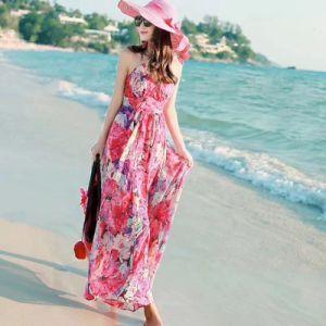 efd3555296e76d Vrijetijdskleding van de Zomer van de Kleding van de Chiffon van de Vakantie  van het Strand
