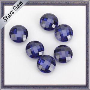 Blauwe Rang 5mm van de AMERIKAANSE CLUB VAN AUTOMOBILISTEN van de Kleur het Ronde Dubbele Zirkoon van de Besnoeiing van de Controleur voor Gouden Juwelen