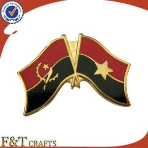 方法Hot Sales Double Synthetic Enamel Flag Logo Metal Flag BadgeかBadge Pin