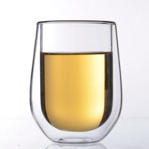 Heißer Verkaufs-doppel-wandiges Tee-Glas/doppelte Schicht-Glas-Cup