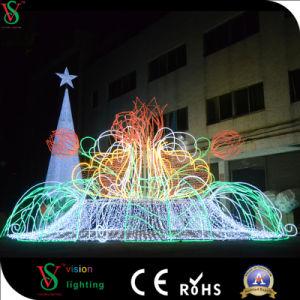 Straatlantaarn van het Motief van de Fontein van de Decoratie van de Vakantie van Kerstmis de Openlucht 3D