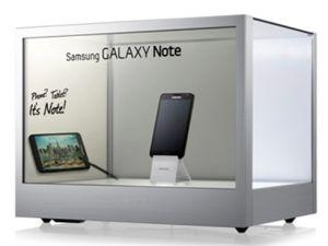 Affichage LCD 22 transparent pour l'affichage et d'exposition montrent de la publicité