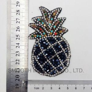 Distintivo degli accessori della zona del ferro del Rhinestone del ricamo di figura dell'ananas di promozione di modo