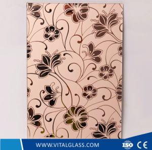 Refoulées Fenêtre couleur décorative /trempé acide de la mosaïque de verre à motifs gravés