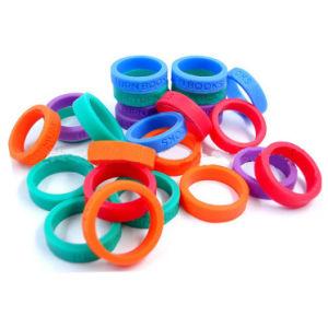 Продажа на заказ силиконовый свадебные кольца/ силиконового герметика большим пальцем кольцо в подарок для продвижения/персонализированные силиконового герметика свадебные кольца