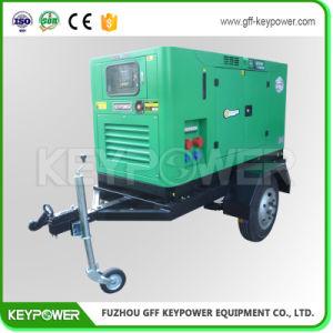트레일러를 가진 Keypower 50kVA 움직일 수 있는 발전기는 파워 그리드 지역을%s 60Hz를 선회한다