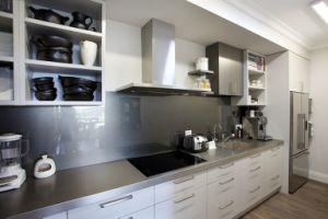 Hangzhou-kundenspezifischer Küche-Schrank mit hoher Glanz-Lack-Tür