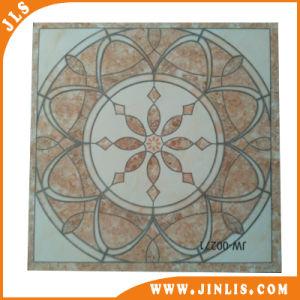 De decoratieve Tegel van de Vloer van Inkjet Beige Ronde Patroon Verglaasde Rustieke Ceramische