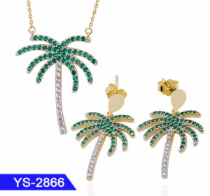 Nuevo diseño de joyas de moda mayorista 925 Joyería de Plata Anillo de latón o arete CZ Joyas de boda para la Mujer