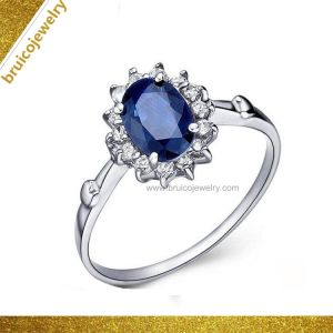 Luxury Fashion jóias com diamantes 925 Sterling Silver Jóias Gemstone 9K 14K 18K Gold Anel de casamento