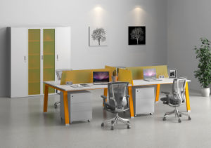 Mobiliário de escritório Secretária Executiva Mesa moderna com o Pedestal/Cabinet