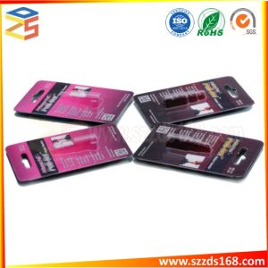 Forma de frasco ampolla de embalaje El embalaje de la tarjeta de bandeja