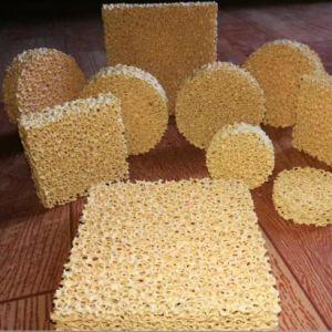 La zircone/ZRO2/filtre en mousse céramique oxyde de zirconium 1700 C pour l'acier en acier au carbone et en alliage de moulage en acier inoxydable