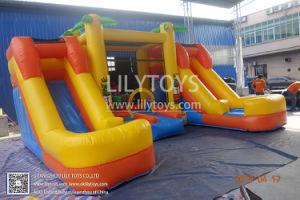 Château gonflable Combo Bouncer colorés avec double diapositive pour Kid