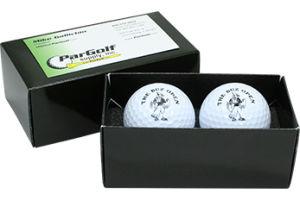 Balle de Golf boîte cadeau d'emballage, couvercle et base boîte cadeau