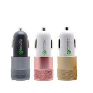 金属の速い充満携帯電話二重USB QC2.0車の充電器