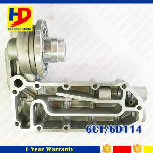 Basis 3974324 van de Filter van de Olie van de Dekking van de Radiator van de Koeler van de Olie van de Motor van pc300-7 6CT 6D114