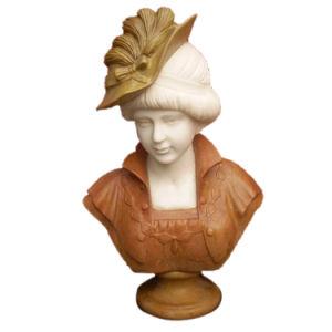 Tête buste en marbre statue de pierre pour la décoration d'accueil