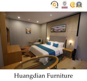 Personnalisée Une plaque de contreplaqué de conception moderne avec mobilier en bois de placage Hotel Bedroom Set (HD450)