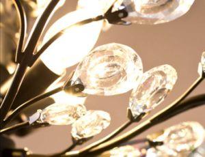 América Style 3-Ights Cozinha Mini Metal Crystal Chandelier Light em cristal transparente para sala de jantar, Dia32cm H44cm