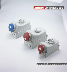 IP44 4p 16d'une douille avec des commutateurs et verrouillage mécanique à des fins industrielles