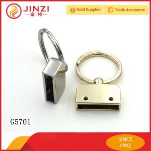 Suporte feito sob encomenda da corrente chave de anel chave do metal da forma da fábrica