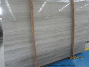 Witte Houten Korrel/de Marmeren, Wit Tegels Serpeggiante van Aders/Plakken/het Behandelen/het Begrenzen/van het Patroon Marmer