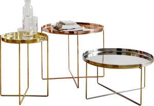 Европейский дизайн старинные латунные Gold металлические современной Тумбочке кофейные столики