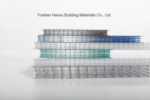 De vier-Muur van Bayer het Duidelijke van het Polycarbonaat Holle van het Blad Plastic Blad van de PC- Zon