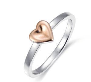 925純銀製によってまたはバレンタインのギフトのための習慣としてなされる中心デザインリング